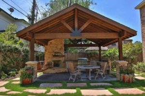Outdoor Covered Patio for Hosting Barbecues