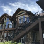 Composite decking addition to mountain home in colorado